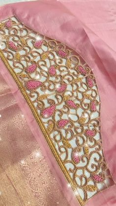 Blouse Designs High Neck, Cutwork Blouse Designs, Hand Work Blouse Design, Simple Blouse Designs, Cutwork Embroidery, Hand Embroidery Designs, Churidar Designs, Maggam Works, Traditional Fashion