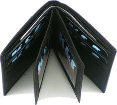 US Honor US Air Force Logo Round Metal Badge Mens Leather Wallet [Chocolate Brown]