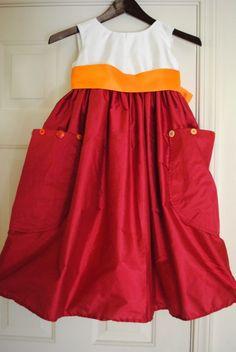 Cute flower girl dress design
