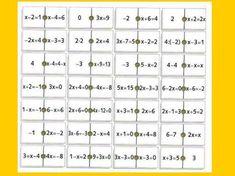 Sacado del libro de F. Corbalán y otros de Matemáticas ALFA de 3º ESO de la Editorial Vicens Vives. Se trata de un dominó para el inicio de la resolución de ecuaciones en la ESO. (No he comprobado…