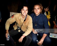 Actors Cole Sprouse (L) and Dylan Sprouse attend Tyler, the Creator's fashion…