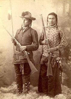Three Irons and Son. Crow. Photo by Thomas Nathan Barnard. Montana. ca. 1890.