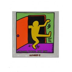 National Coming Out Day Color Magnet with a print of Keith Haring on it. High-quality refrigerator magnet with dimensions x cm - x inch. Pride Products, Refrigerator Magnets, Keith Haring, Gay Pride, Coming Out, Logos, Day, Colors, Going Out