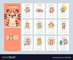 December Calendar, Yearly Calendar, New Year Symbols, Seasons Activities, Cute Tigers, Web Design, Graphic Design, Work On Yourself, Vector Free