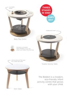 Anna Dhillon Custom Bobbin in birch with greys. A modern take on The Bobbin Triple Play Centre by Anna Dhillon for Three Pears. Table Activities For Toddlers, Infant Activities, Tactile Sense, Modern Toys, Play Centre, Kid Table, Activity Centers, Baby Store, Baby Play