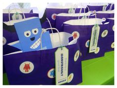 Monsters party take-home bag, big enough to take home  their crafts, treats, and toys.