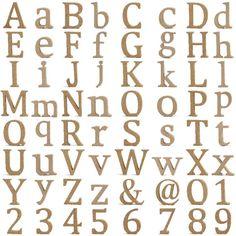 Holzbuchstaben Holzzahlen Buchstaben Zahlen MDF H: 13cm