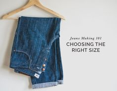 Hands down one of the biggest questions we get day in and day out is what size people should choose when they're making jeans for the first time. Since it feels like an important project, people reall Sewing Jeans, Sewing Clothes, Diy Clothes Alterations, Diy Summer Clothes, Diy Clothes Refashion, Diy Clothes Videos, Make Your Own Clothes, Patterned Jeans, Dress Making Patterns