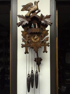 Vintage Anton Schneider Wooden Cuckoo Clocks, Made in Germany-Good Working