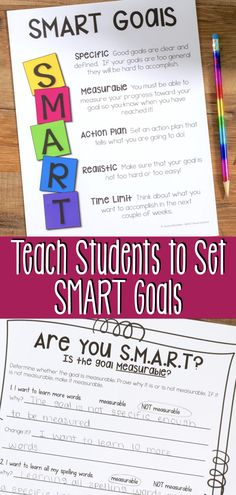 Teach elementary students to set SMART Goals. Help your and even grade students identify their ac Academic Goals, Student Goals, Persuasive Writing, Writing Rubrics, Paragraph Writing, Opinion Writing, Goal Setting For Students, Reading Goals, Study Skills