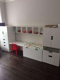 52 Inexpensive IKEA Craft for Kids Room Ideas – Craft and Home Ideas - Babyzimmer Ikea Shelving Unit, Ikea Units, Ikea Shelves, Shelf Units, Wall Units, Ikea Stuva, Ikea Forhoja, Ikea Baby, Kid Playroom