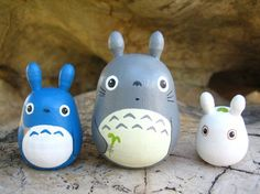 Set of 3 TOTORO DOLL Studio Ghibli mini figure model toy 4 $14.50