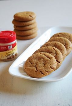 Eggless Ginger Cookies Recipe | Chewy Ginger Molasses Cookies- coconut oil, coconut sugar, coconut milk, GF flour