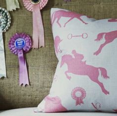 Dappled Grey Equestrian Style » Linen Gymkhana Fabric from Hibou Home