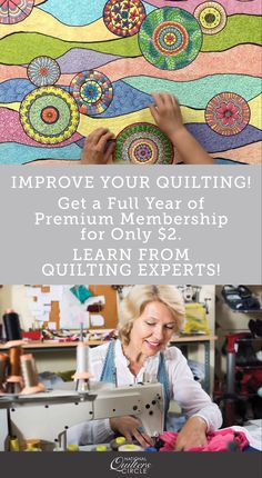 You've been specially invited to join the National Quilters Circle at 98% off the regular price. (normally $69) Join today and you'll get a whole year of our best Premium instructional videos, helpful tips & amazing projects for only $2! Quilting Tips, Quilting Tutorials, Quilting Projects, Quilting Designs, Bird Quilt Blocks, Bright Quilts, Fabric Origami, Foundation Paper Piecing, Easy Quilts