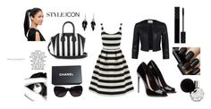 """""""style icon"""" by marina-kuschnirencko ❤ liked on Polyvore featuring Warehouse, Givenchy, Chanel, Alexa Starr, Folio and Gucci"""