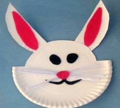 How To Make an Easter Bunny {Easter Craft} #easter #paperplatecraft