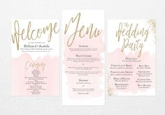 Programa Printable Wedding Suite e Menu por BirchandSparrow Groom And Groomsmen, Bride Groom, Wedding Program Inspiration, Wedding Order, Wedding Programs, Wedding Suits, Reception, Place Card Holders, Groomsmen