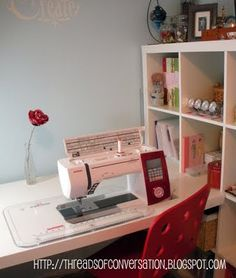 DIY recessed sewing table....need to get my sewing machine up and running again