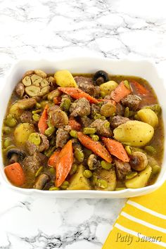 This easy lamb stew recipe is flavorful and comforting, the lamb is cooked in broth with potatoes, carrots and favas until fork tender, delicious all year round! Lamb Recipes, Meat Recipes, Healthy Dinner Recipes, Lamb Stew, Cooking Instructions, Original Recipe, Soups And Stews, Food Dishes, Stuffed Peppers