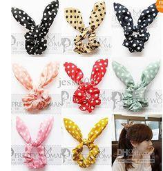2014 Fashion Women Girl Cute Rabbit Ear Hair Bands Tie Accessories Japan Korean Ponytail Holder Bracelet Hair Accessories Colorful Chi $1.63 | DHgate.com