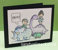 Prehistoric Circus – Neat & Tangled card I know you guys laugh at me sometimes for my silly brain….but when I saw the positioning of the two little cave people in Prehistoric by Nea… Sandy Allnock, Dinosaur Cards, Neat And Tangled, Prehistoric, Handmade Cards, Cave, Brain, Projects To Try, Paper Crafts