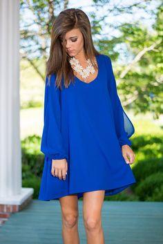 Swing It Dress, Royal Blue