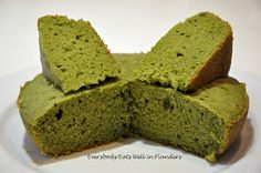 Steamed Cake/Rice Cooker Cake - Matcha Green Tea Cake