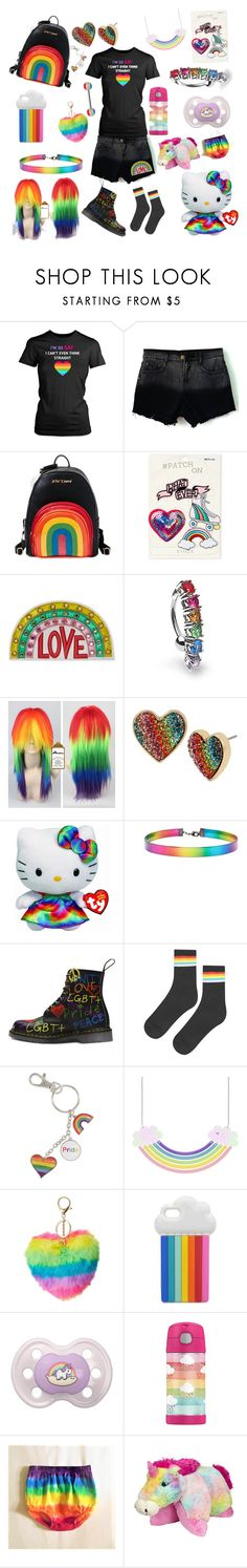 """Rainbow baby❤️💛💚💙💜"" by rainythedarklord ❤ liked on Polyvore featuring Betsey Johnson, Viola, Gucci, Bling Jewelry, My Little Pony, Hello Kitty, Forever 21, Topshop, Charlotte Russe and STELLA McCARTNEY"