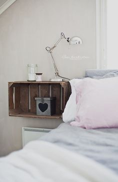 22 Nightstand Ideas For Your Bedroom | Pinterest | Crate ...