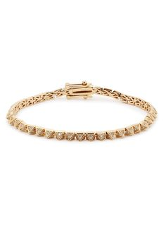 Eddie Borgo gold-plated bracelet Crystal-embellished pyramid links Clasp fastening Presented in a designer-stamped pouch