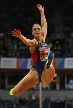 Ivana Spanovic Photos - Ivana Spanovic of Serbia competes in the Women's Long Jump final on day three of the 2017 European Athletics Indoor Championships at the Kombank Arena on March 2017 in Belgrade, Serbia. - Ivana Spanovic Photos - 39 of 208 Artistic Gymnastics, Gymnastics Girls, Vive Le Sport, Gymnastics Photography, Long Jump, Beautiful Athletes, Female Gymnast, Poses References, Sporty Girls