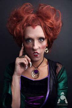31 Days Of Halloween makeup Winifred Sanderson - Hocus Pocus by Amanda Chapman wwwfacebook.com/amandachapmanphotography