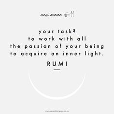 your task? to work with all the passion of your being to acquire an inner light // rumi