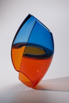 Available blown glass sculpture by John Kiley for sale. Blown glass sculpture by John Kiley. Broken Glass Art, Shattered Glass, Sea Glass Art, Stained Glass Art, Fused Glass, Blown Glass, Verre Design, Glass Art Design, Design Art