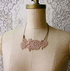 lace necklace -JUSTINE-. $32.00, via Etsy.