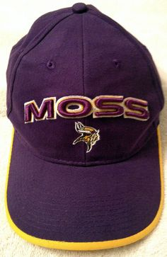 84e573abf MINNESOTA VIKINGS VINTAGE RANDY MOSS ADJUSTABLE ADULT ONE SIZE FITS ALL CAP  HAT  DREWPEARSONMARKETING  MinnesotaVikings