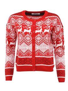 Červený kardigan s jeleny ONLY Flake Christmas Sweaters, Men Sweater, Fashion, Moda, Fashion Styles, Christmas Jumper Dress, Men's Knits, Fashion Illustrations, Tacky Sweater