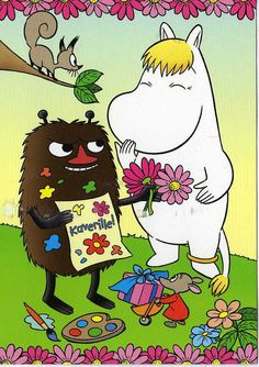 Love Moomins~ Good valentine.