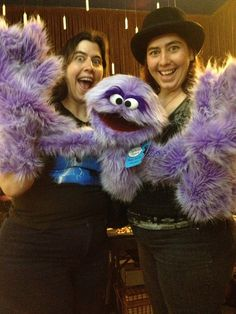 Lovely ladies modeling a variation of the Clyde puppet