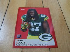 EDDIE LACY RC 2013 Topps Target Exclusive Red Border Rookie Insert Card #14 Mint