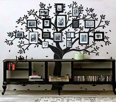 Family Tree Wall Decor check out these creative, artsy family tree wall decals as a way