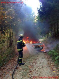 Freiwillige #Feuerwehr Judendorf-Straßengel: PKW Brand #firefighters