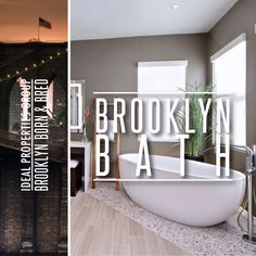Beautiful bathroom designs - either from Brooklyn, or the ones we all feel would work great in Brooklyn. :)