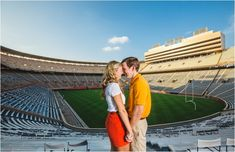 neyland stadium engagement photos - click to view more! Tennessee football, go vols, stadium, football engagement pictures