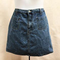 82fd8c9c8a5 Details about LA Blues 20W Skirt Blue Denim Jean Skort Shorts Plus Size