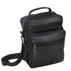5777c5eec192 Vintage Genuine Leather Men s Shoulder Bags Messenger Bag High Quality Male  Business Multifunction Bag Crossbody Bags