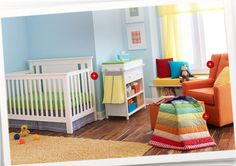 Nursery: Baby Furniture, Beds, Accessories : Target like the bright colors