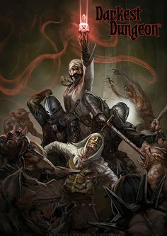 I love the art of Darkest Dungeon but man I would love to see a more realistic art direction for this game. Dark Fantasy, Fantasy Art, Darkest Dungeon, Corgi, Dark Memes, Gothic Horror, Dark Souls, Paladin, Fantasy Characters