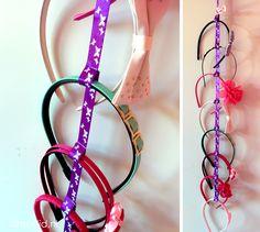 DIY haarbandhouder headband holder.